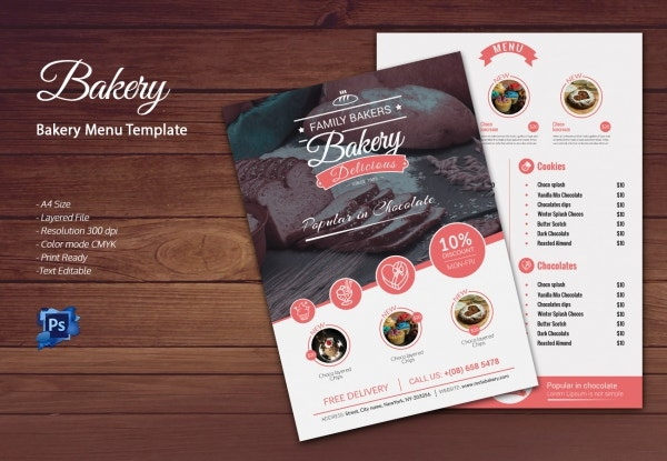 bakery menu template 30 free word psd pdf eps indesign format download free premium. Black Bedroom Furniture Sets. Home Design Ideas