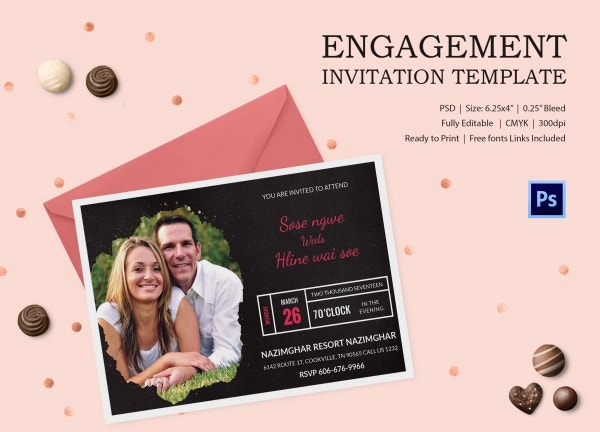 Engagement Invitation Template 25 Free PSD AI Vector EPS – Engagement Invitation Format
