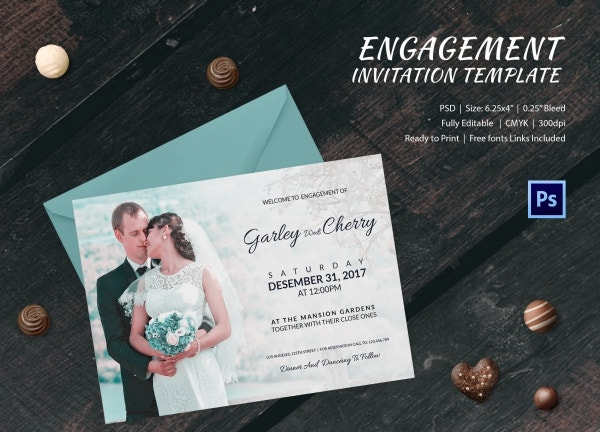 Classy Engagement Invitation Template