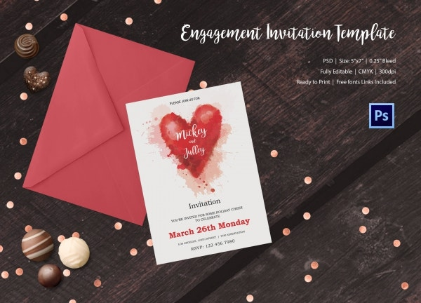 Engagement Invitation Template 25 Free PSD AI Vector EPS – Engagement Invitation Templates
