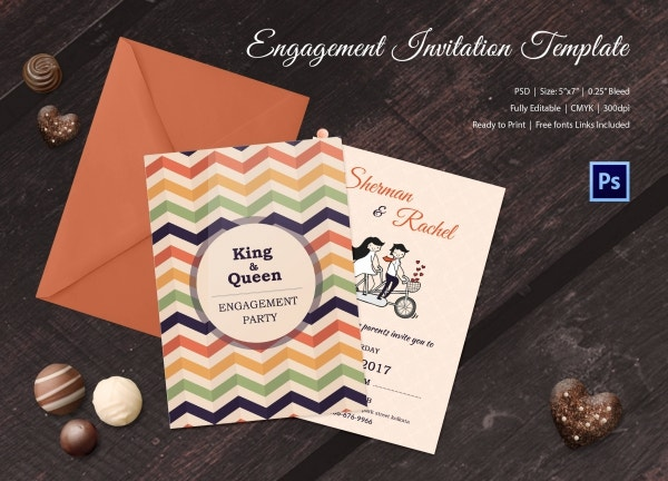 Best Couple Engagement Invitation