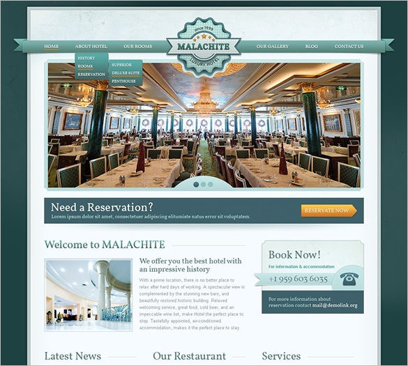 best hotel drupal template
