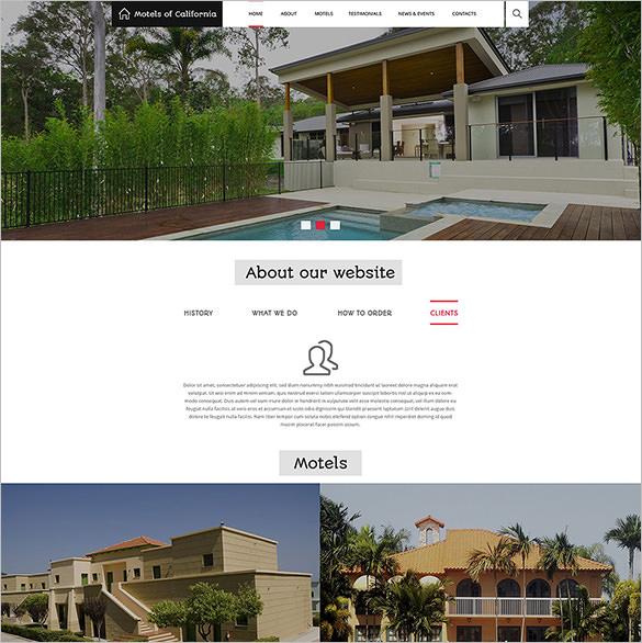 responsive hotels motels drupal template