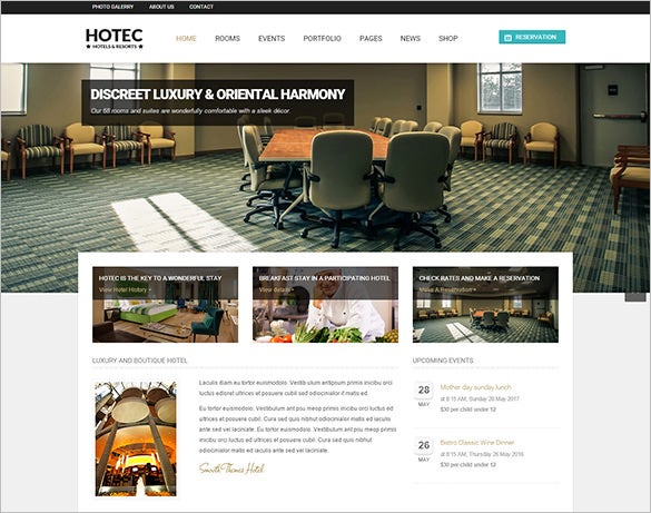 responsive hotel resort drupal theme