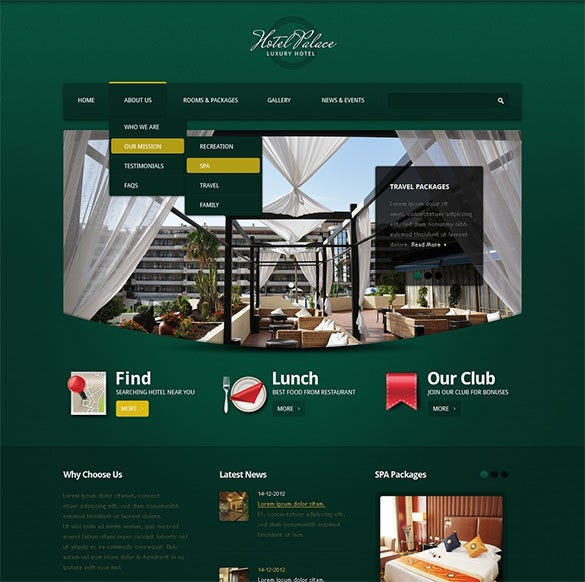 fully responsive hotel drupal template