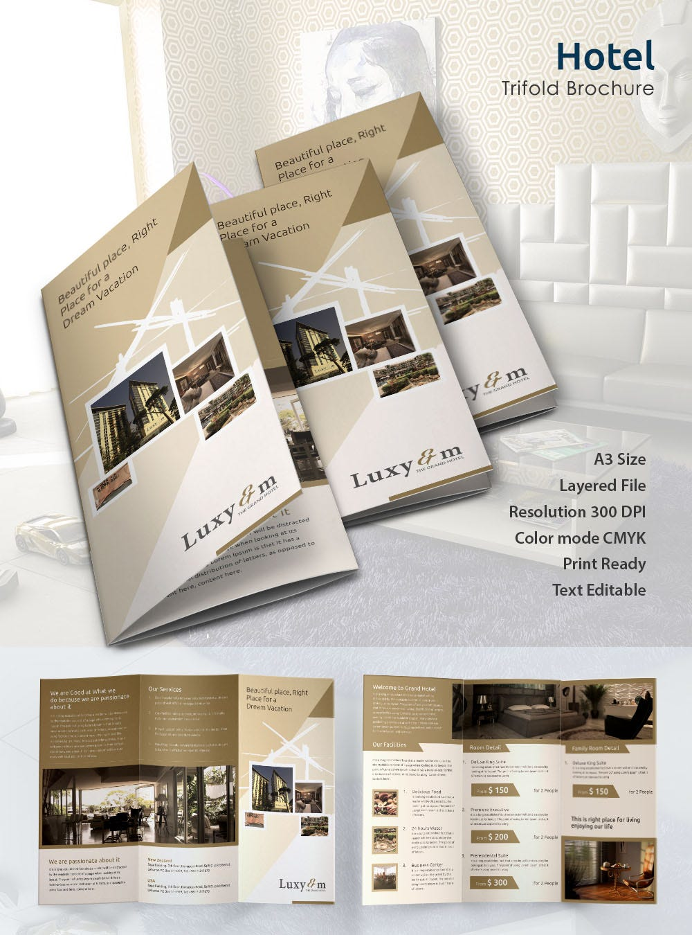 hotel brochure templates free download 14 popular psd hotel brochure templates free premium
