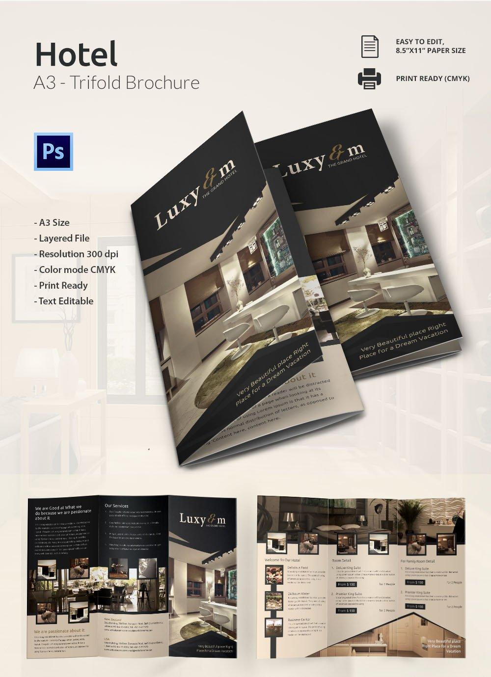 Modern A3 Tri Fold Brochure Template