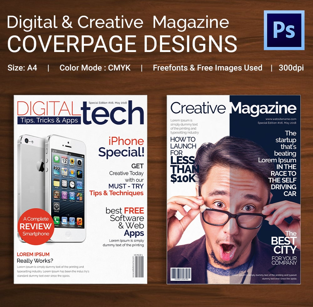 Digital and Creative Magazine Coverpages