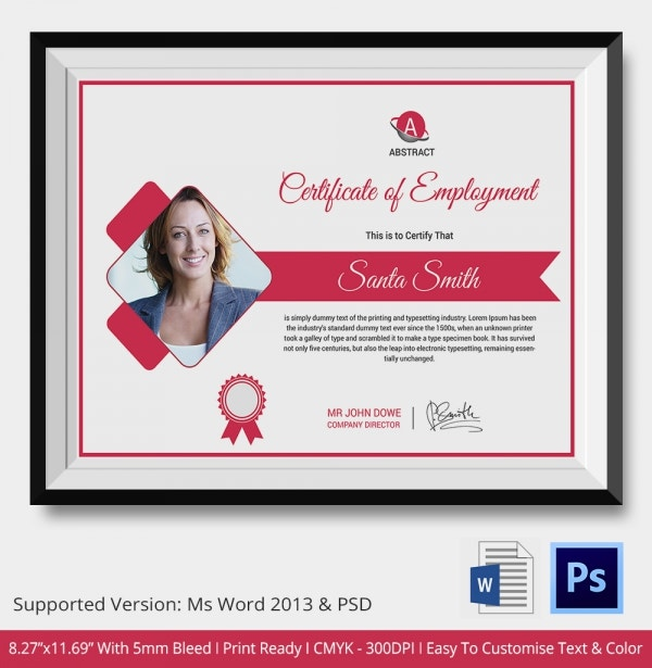 Casual Employment Certificate Template