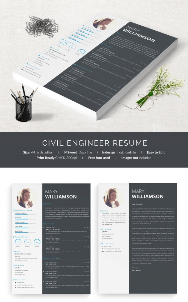 One Page Civil Engineer Resume