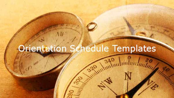 12  orientation schedule templates  u0026 samples