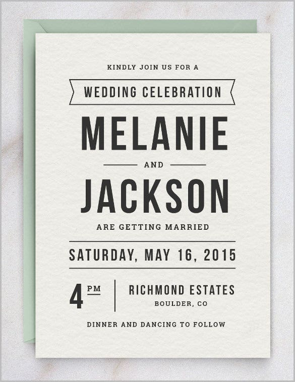 lite wedding invitation template for everyone