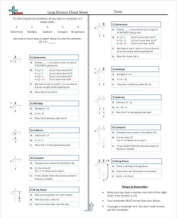 Common Core Cheat Sheet PDF Format Download