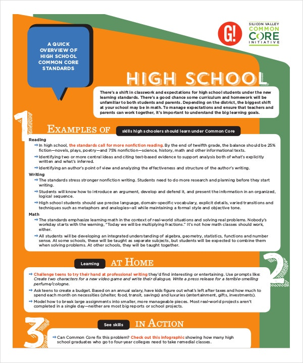 common core cheat sheet for high school pdf format download