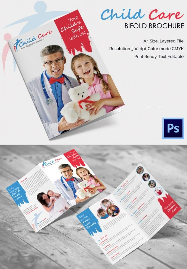 Child Care PSD Brochure Template