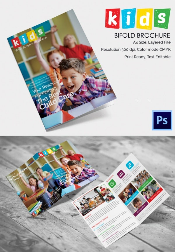 Customisable A4 Bi Fold Brochure
