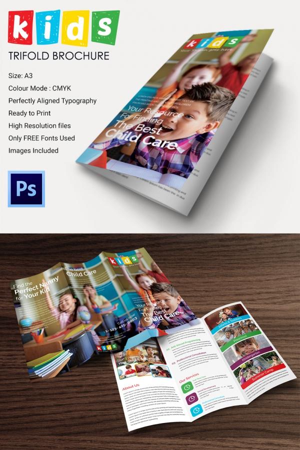 Printable A3 Tri Fold Brochure