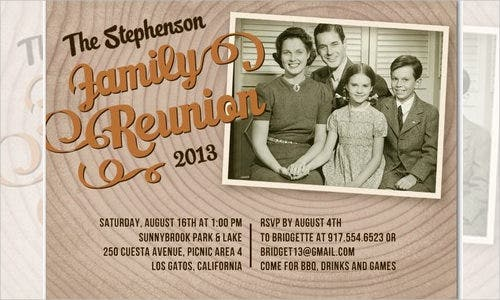 dark family reunion invitation template1
