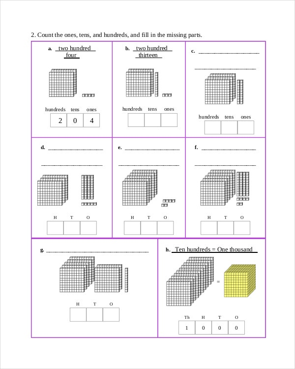 Blank Mathematics Common Core Sheet PDF Format Download