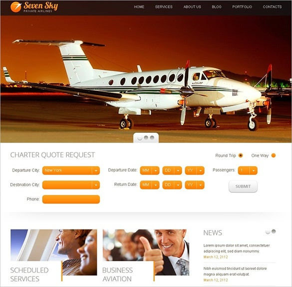 simple travel responsive drupal theme