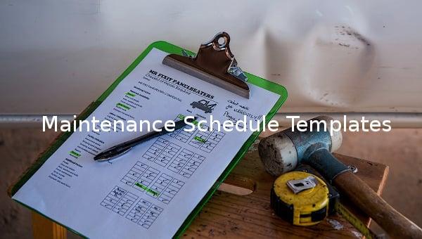 maintenancescheduletemplate