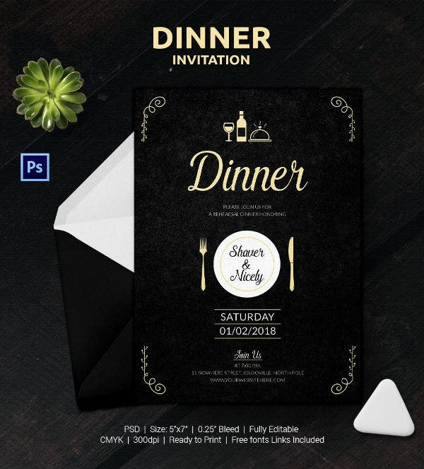 Dinner Invitation Template 35 Free PSD Vector EPS AI Format – Free Dinner Invitation