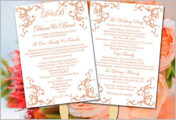 Emejing Diy Wedding Program Fans Template Pictures - Styles & Ideas ...