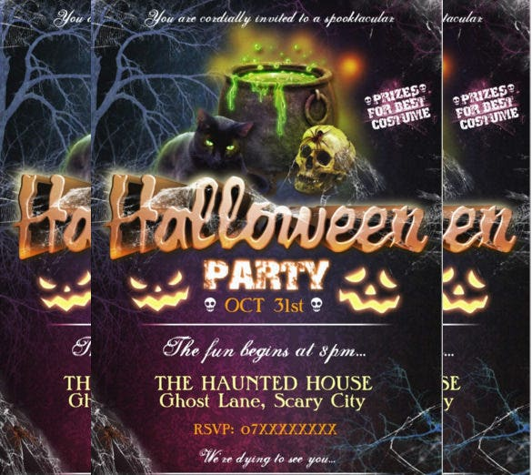 custom halloween party invitation