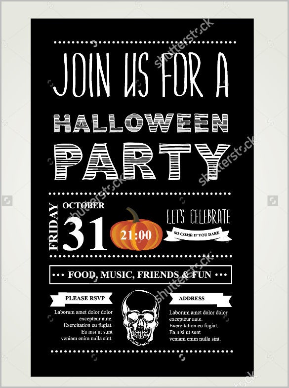 sample halloween invitation template invitation halloween vector illustration - Free Halloween Invite Templates