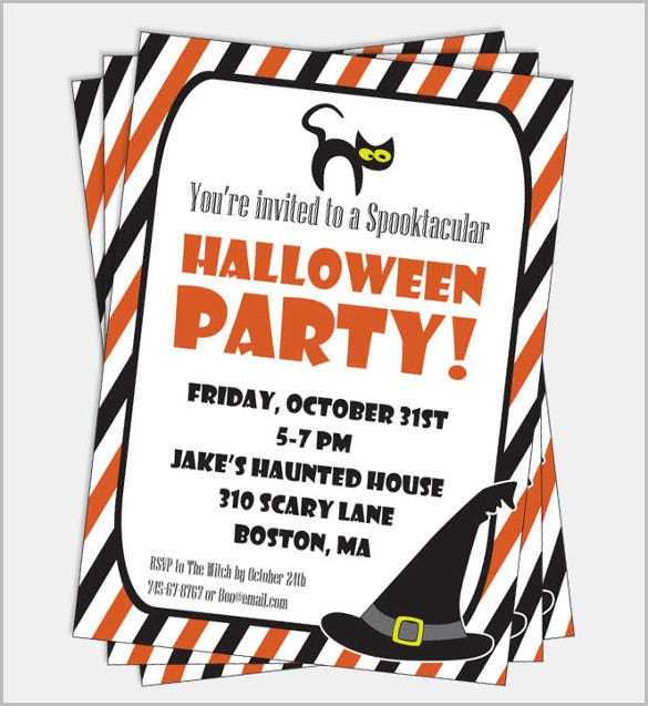 printable kids halloween party invitation halloween party invitation template