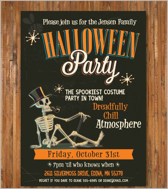 retro halloween halloween invitation cocktail party adult halloween party