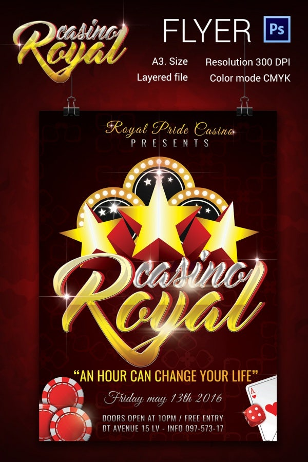 a3 royal casino flyer template