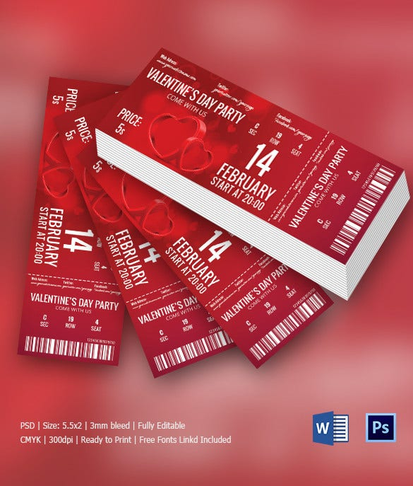 Ticket Invitation Template 61 Free Psd Vector Eps Ai