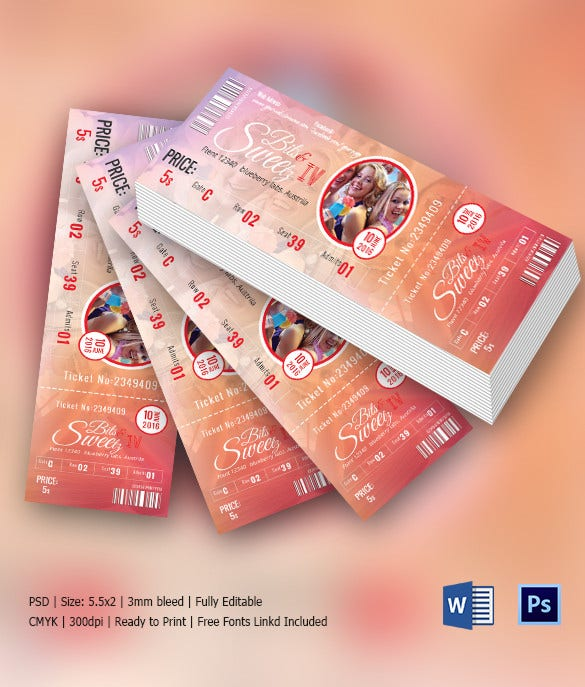 Premium Party Ticket Template Download