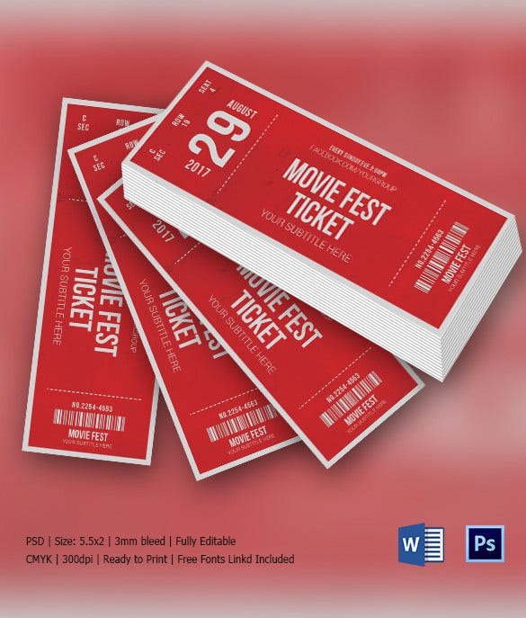 Movie Fest Invitation Ticket