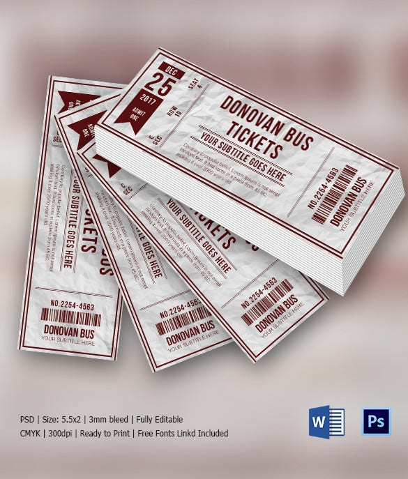 Sample Multipurpose Invitation Ticket Download