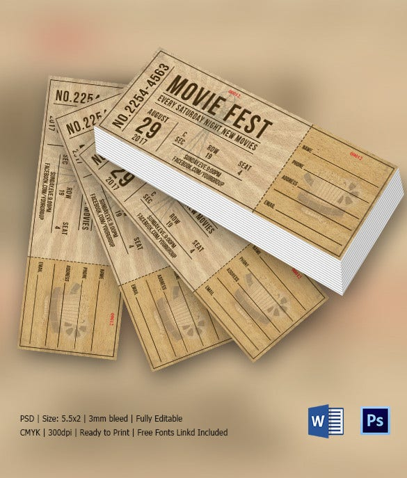 Saturday Night Fest Invitation Ticket