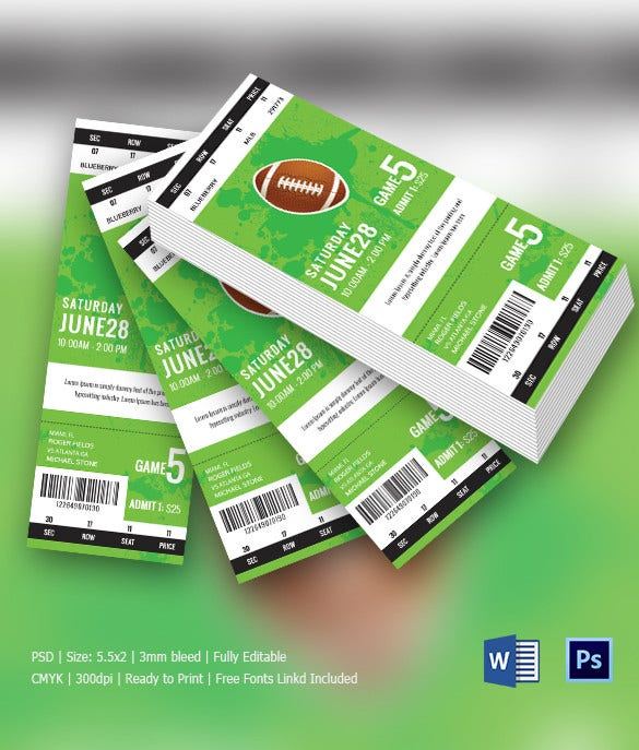 Rugby Game Entrance Ticket