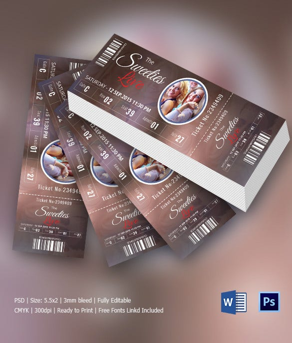 Thunder Event Party Invitation Ticket