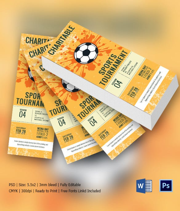 Ticket invitation template 61 free psd vector eps ai for Sports ticket template free download