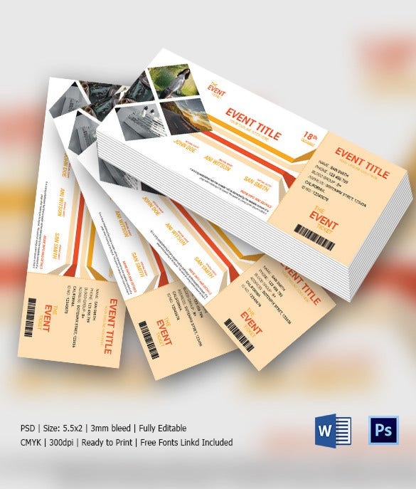 Multipurpose Metro Style Ticket Invitation Template