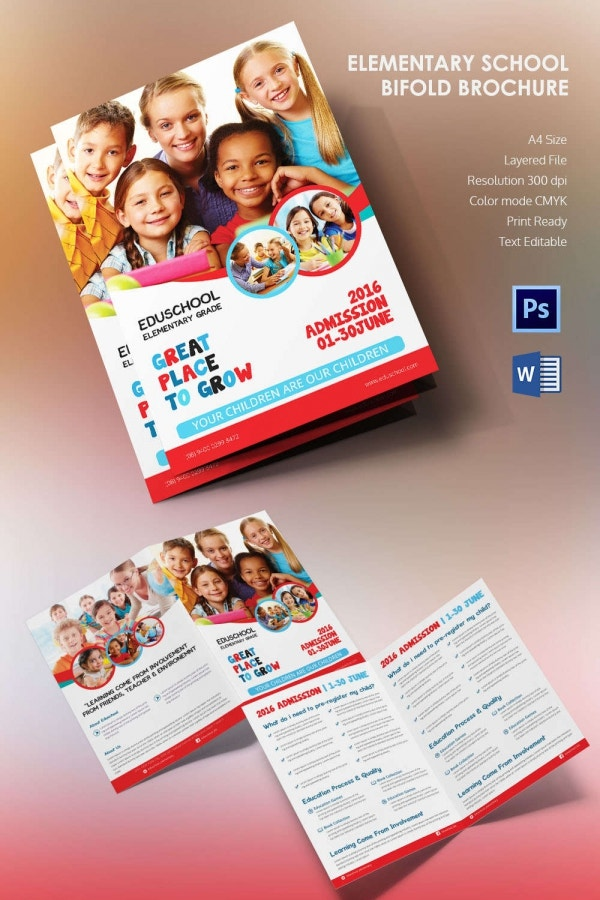 Microsoft brochure template 34 free word pdf ppt for School brochure template free