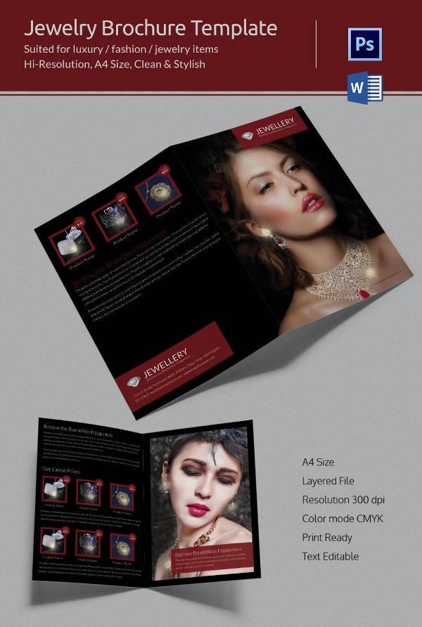 Jewellery Bi-folding Brochure