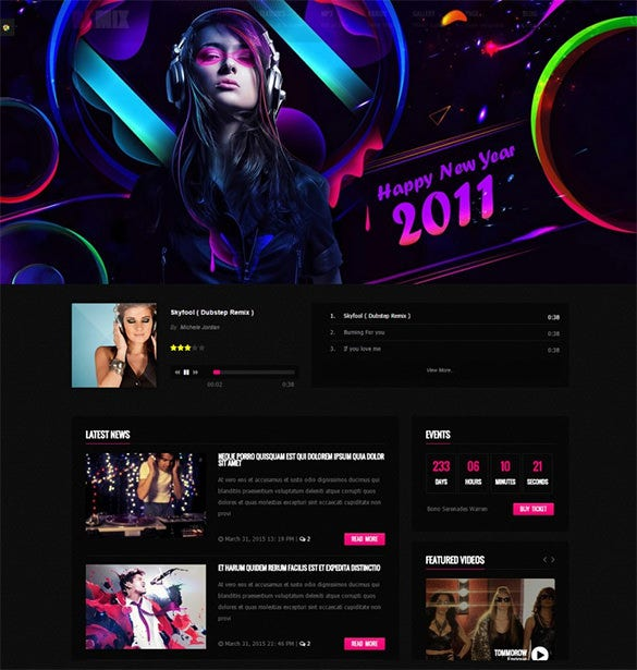 responsive music drupal template1