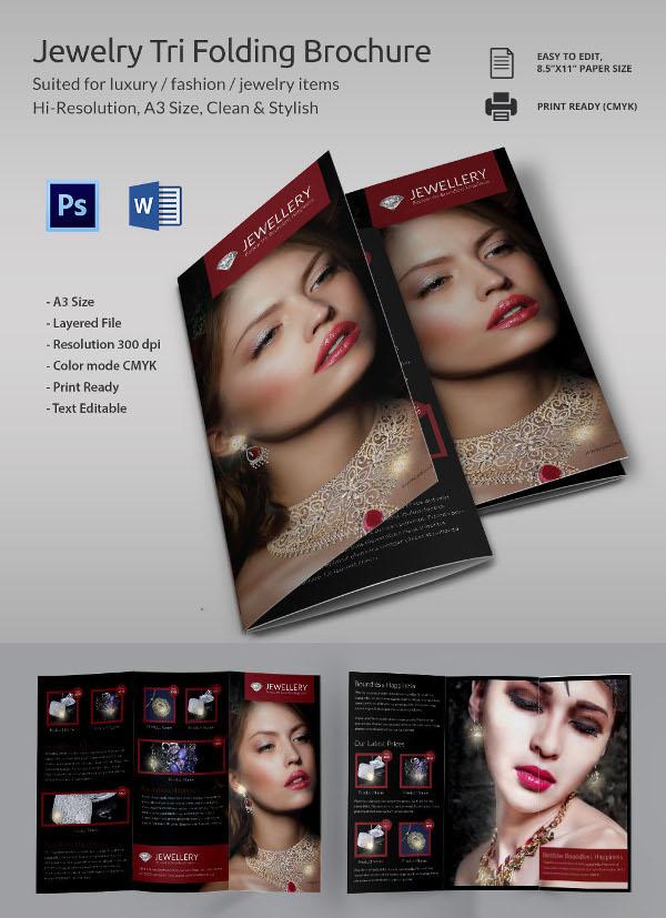 Jewellry Tri-Folding Brochure