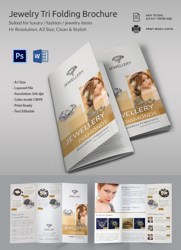 Jewelry Brochure Template Download Fashion Catalogue Brochure