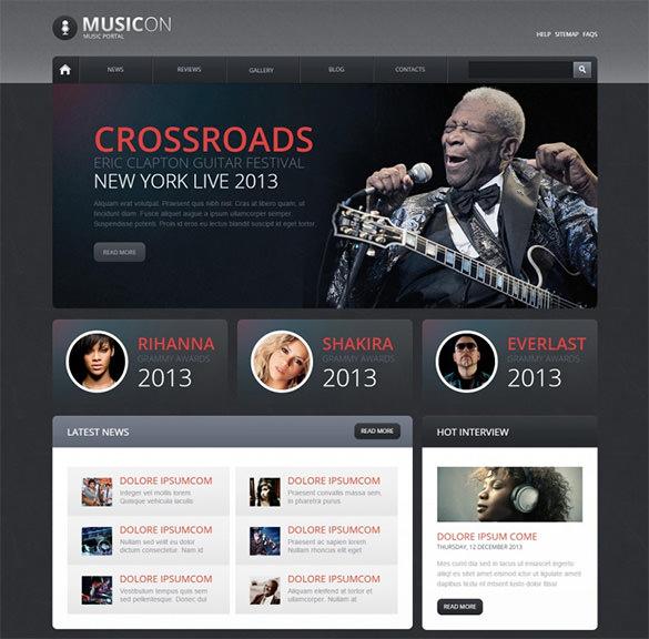10+ Music Drupal Themes & Templates | Free & Premium Templates