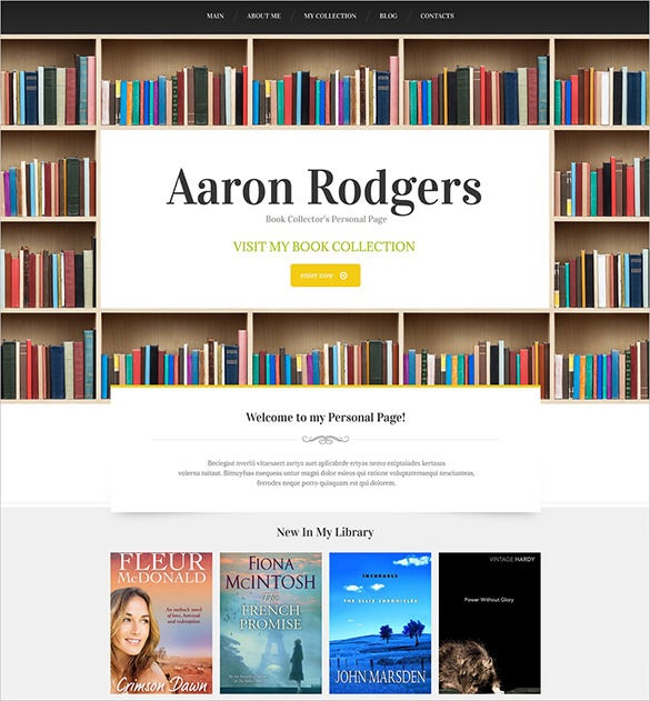 premium writers and authors drupal theme