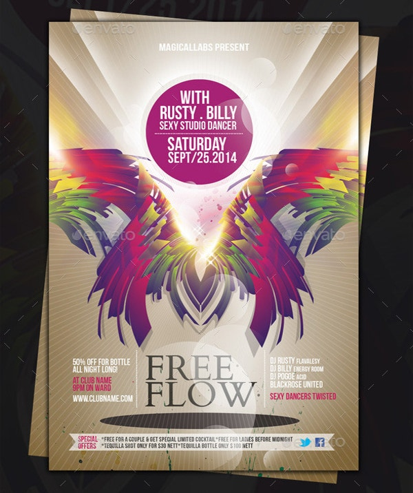 best free flow flyer template