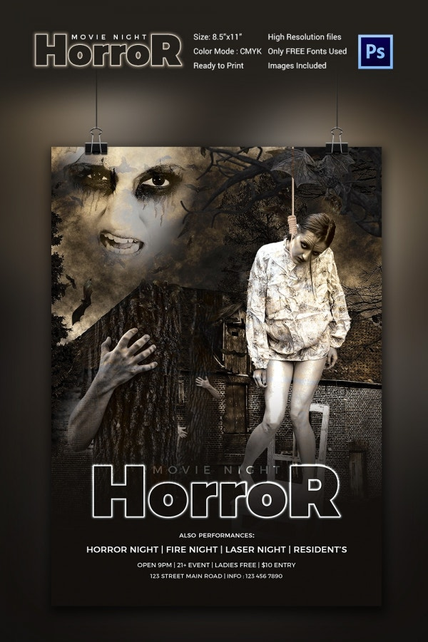 Horror Movie Flyer Template Download